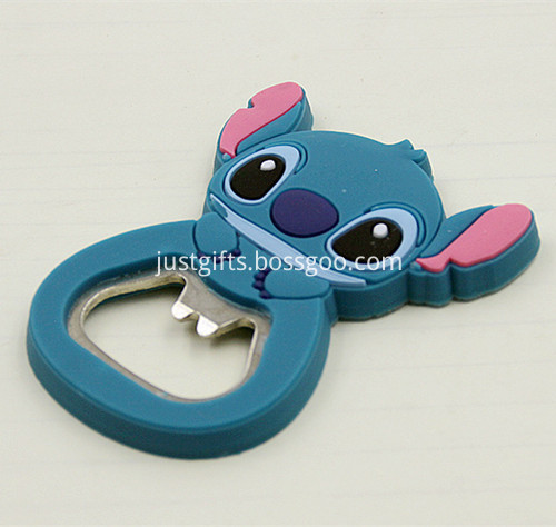 Promotional Cartoon PVC Beer Bottle Opener 4