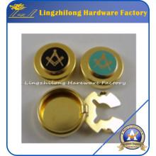 Boutons maçonniques personnalisées Bouton de couverture de boutons en métal