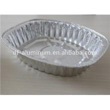 El uso de hornear de Navidad papel de aluminio desechable comida tostado pavo pan