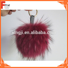 For Handbag / Keychain Real Fur Pom Pom Ball