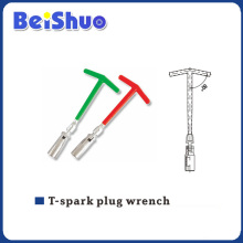 T Type Spark Plug Socket Wrench with Rubber Handle