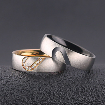 Heart Shaped Diamond Wedding Ring Bridal Set