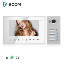 High Quality 7 Inch TFT-LCD Acrylic Screen 4 Wire Video Door Phone With Aluminum Alloy Outdoor Unit  For Multi Apartment