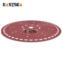 2017 Alibaba Hotsale Brown Durable Pedestrian Rubber RoundAbout Cushion