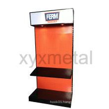 Exhibition Equipment Supermarket Pegboard Floor Display Rack for Power Tools