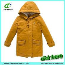 chaqueta caliente de la capa de las mujeres del invierno largo caliente de la venta con acolchado