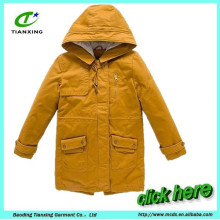 hot sale long winter warm women coat jacket with quilted