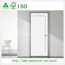 Porte en bois blanche de style d'agitateur de panneau plat d'usine