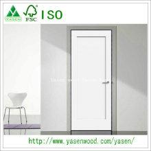 Factory Flat Panel Shaker Style Wooden White Door