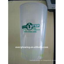 copo de plástico brilho