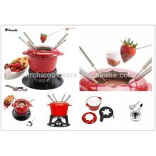 Антипригарный чугун ename lfondue set potting pot