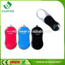 Plástico, material, dobrar, portátil, magnifier, led