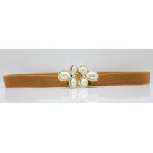 Women pearl elastic waist belt