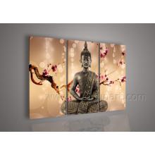 Décoration murale Art en toile Peinture à l'huile religieuse Bouddha sur toile (BU-018)