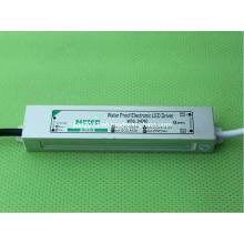 24V 20W IP67 CE impermeável do diodo emissor de luz Driver do diodo emissor de luz