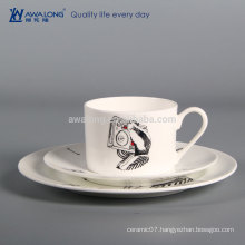 Musical Design Lovely Style Bone China Party Tableware Set, Fine Western Dishes Dinnerware