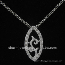 Lovely silver pendant with clear CZ crystal PSS-021