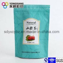 Steh auf Aluminiumfolie Doypack Tasche mit Reißverschluss für getrocknete Blumen / Früchtetee