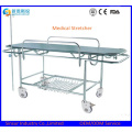 Medical Instrument Hospital Transport Emergency Folding Stretcher with Wheels