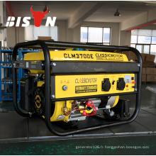 BISON CHINA TaiZhou 100% cuivre Home Electric 220v 2.5kva Astra Korea Gasoline Generator