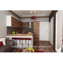 Turkey Manufacture Kitchen Cabinet,Horizontal Industrial Oak veneered door, Pantry Cabinet
