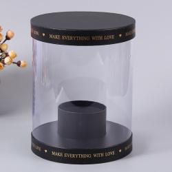 New Design Round Transparent Acrylic Flower Box