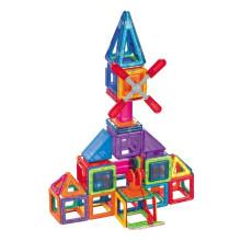 Blocos magnéticos de crianças brinquedos educativos armazenamento caixa vara magnética magnético blocos de crianças