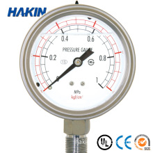 Glycerin Silicone Liquid Oil Filled Stainless Steel Pressure Gauge Manometer