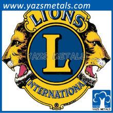 Perno personalizado de la solapa de la insignia del metal del león de la fábrica