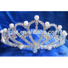 Baby tiara crown pearl tiaras tiara display stand pearl wedding crown tiaras