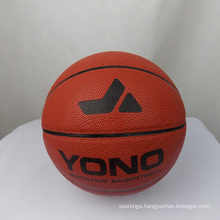 YONO brand high quality classic pu leather basketball custom basketball ball for training