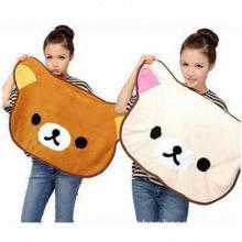 Fashionable Thermal Cartoon Little Bear Carpet Blankets, Used as Shawl Capes, Chair Cushions