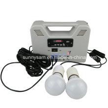 Sistema casero de la energía solar 6W para la iluminación casera
