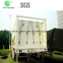 9 Jumbo Cylinders CNG Remorque de stockage de gaz naturel Remorque