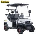 Carrito de golf eléctrico con ruedas de aluminio rojo 4 plazas