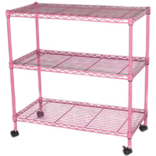 wire storage shelf/wire baskets for storage/ wire storage racks with wheels