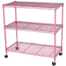 Chrome cheap rolling mesh shelves