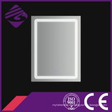Rectángulo LED Baño Chamfer Edge Mirror con pantalla táctil