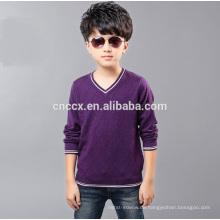 15CSK043 V-Ausschnitt Kaschmir dicke Kinder Kleidung Großhandel