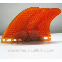 superior quality orange color honeycomb fins future fins
