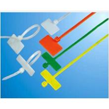 Sujetacables con marcador de plástico UL, color rojo, azul, naranja