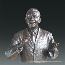 Statuette de grande figure Psychologue Maslow Bronze Sculpture Tpls-087