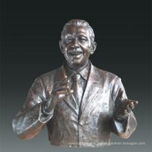 Большая фигура Статуя Психолог Маслоу Бронзовая скульптура Tpls-087