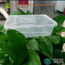 Rectangulares pequeños recipientes de plástico de la categoría alimenticia