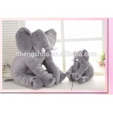 Funny long nose elephant doll shaped soft pillow and toy