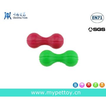 Игрушка-пищалка для гантелей для домашних животных, резиновая игрушка для собак