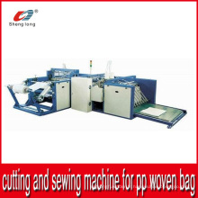 Machine de coupe automatique et de couture inférieure pour sac à rouleaux en tissu tissé PP