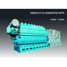 700kW-4180kW HFO de la nave / generador del aceite de combustible pesado