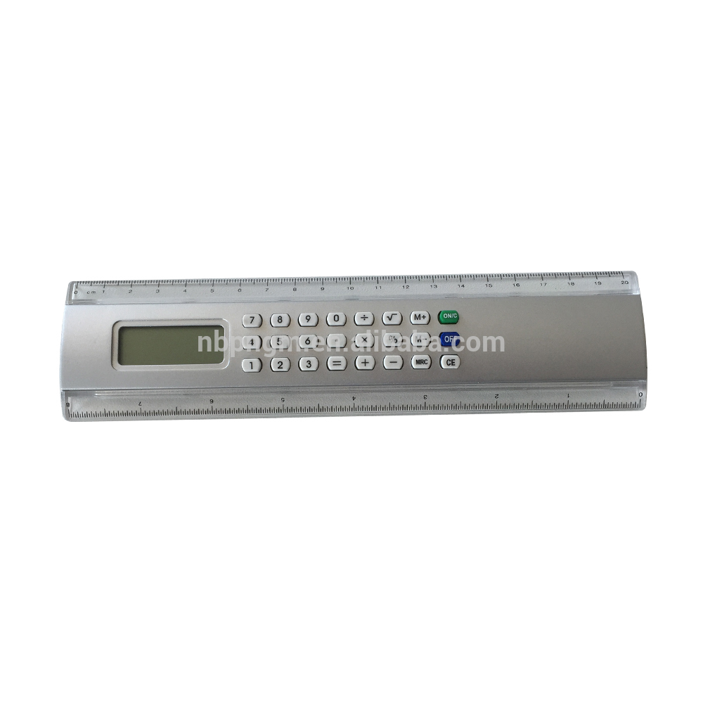 8 Digit 20cm Ruler Calculator, School Supply Calculator