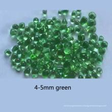 Grânulos de vidro de cor verde para decoração
